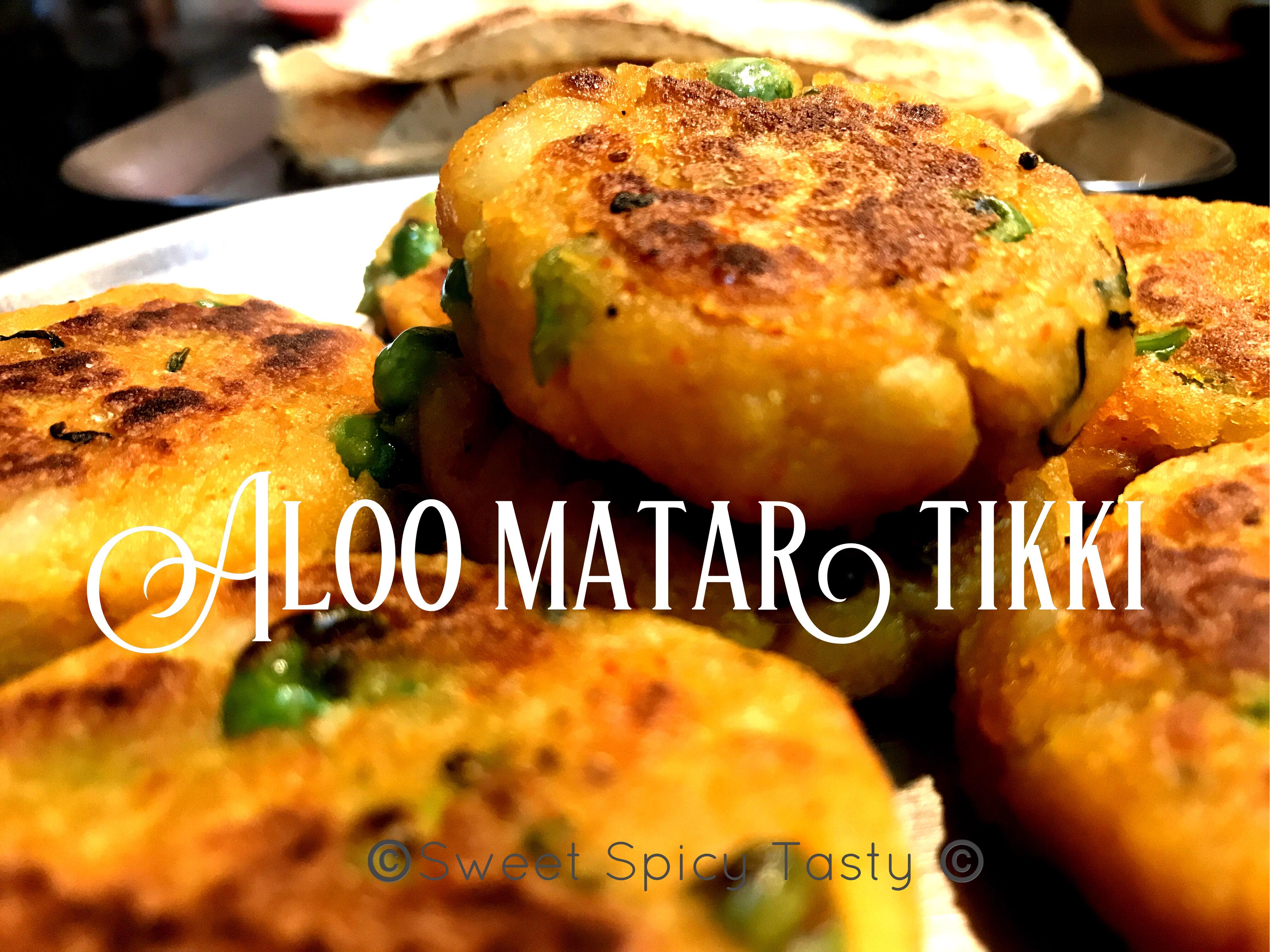 Aloo Matar Tikki | Potato Peas Patty
