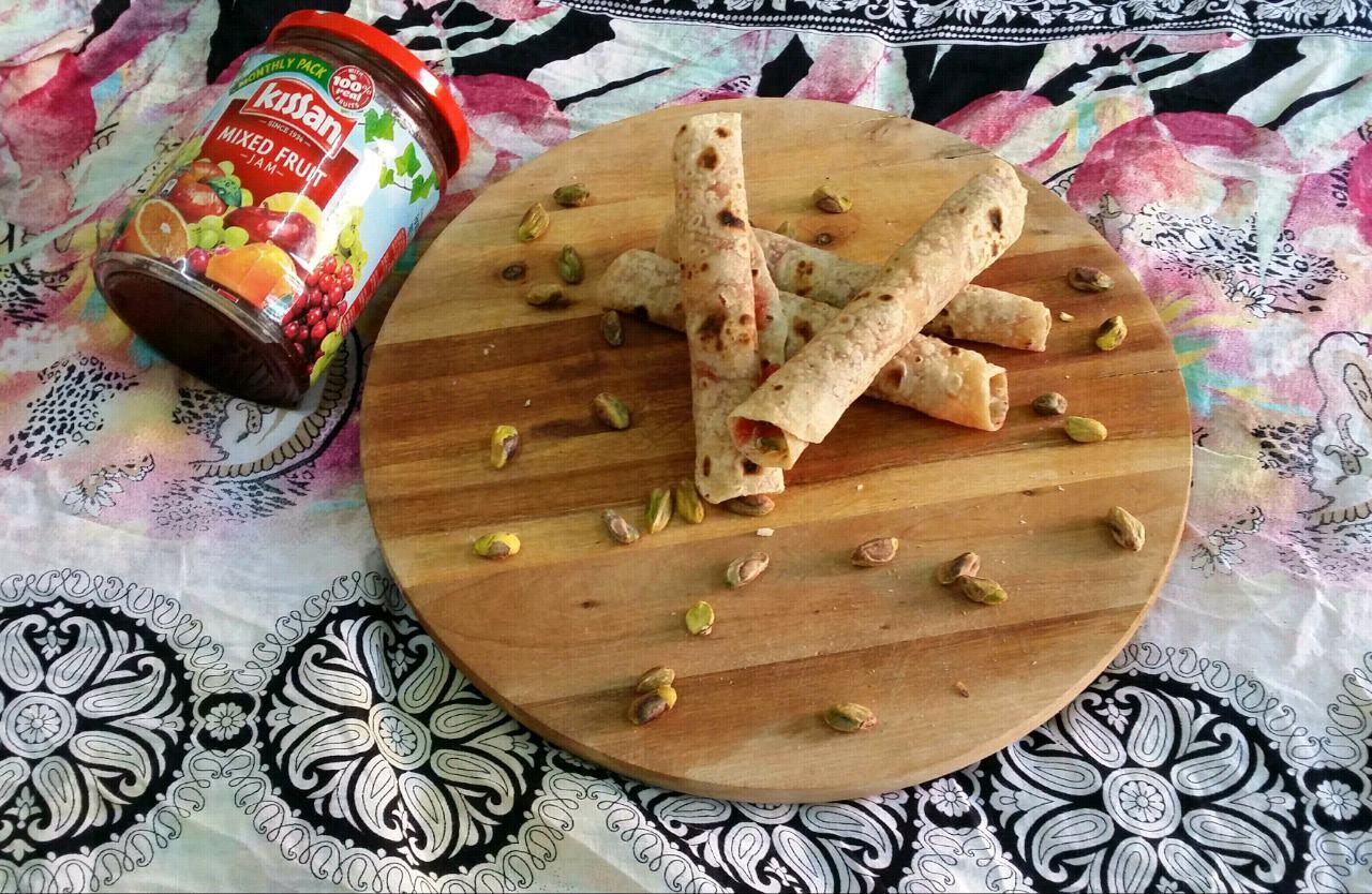 Mini Roti Jam Wraps