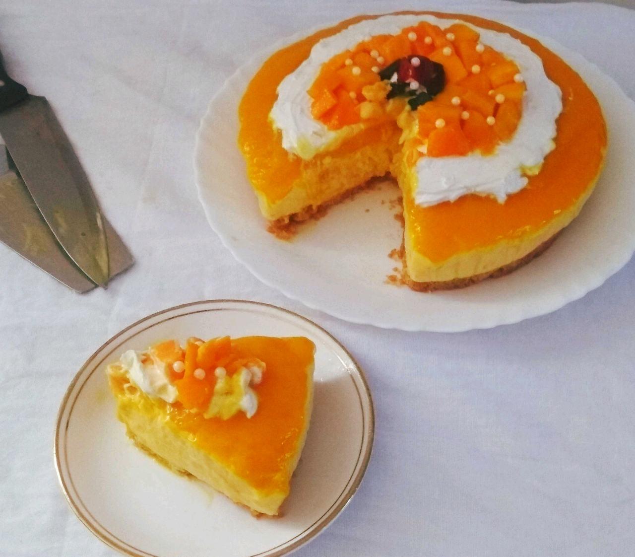 Mango Chocolate Cheesecake