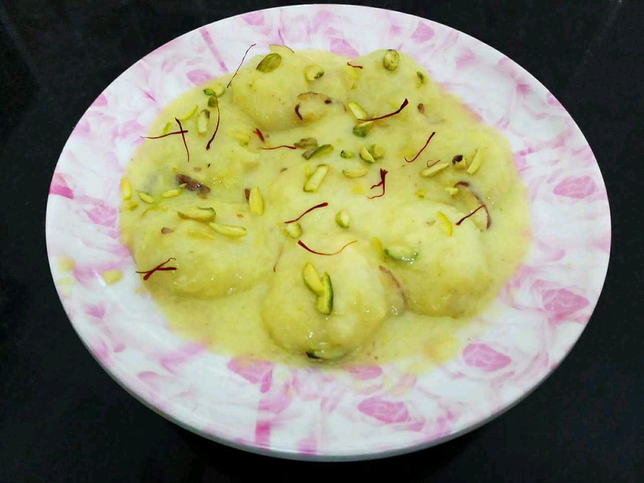 Rice Flour Rasmalai