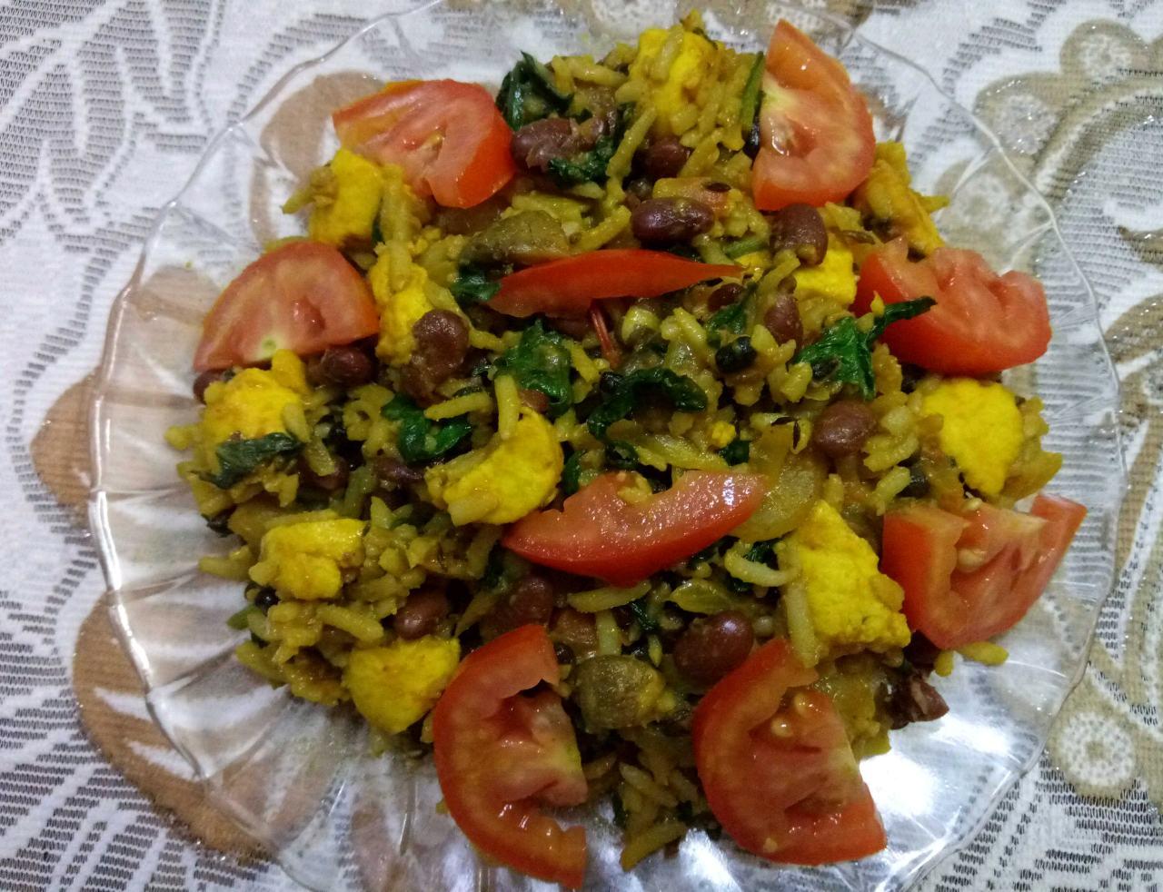 Healthy & Nutritious Rajma & Tofu Biryani