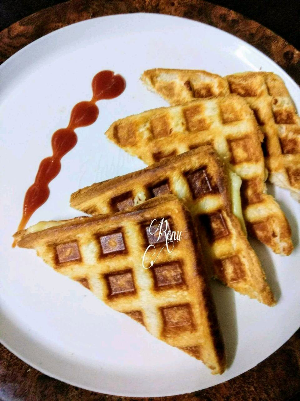 Savoury Cheese Waffles