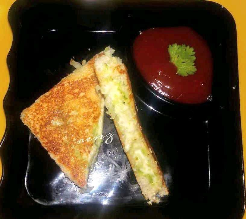 Cheese Cucumber Toast Sandwich