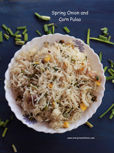 Spring onion and corn pulao