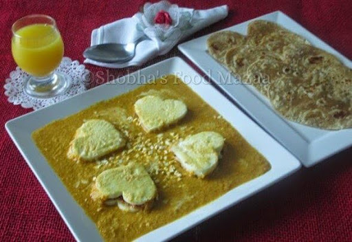 Stuffed Paneer Hearts Pasanda
