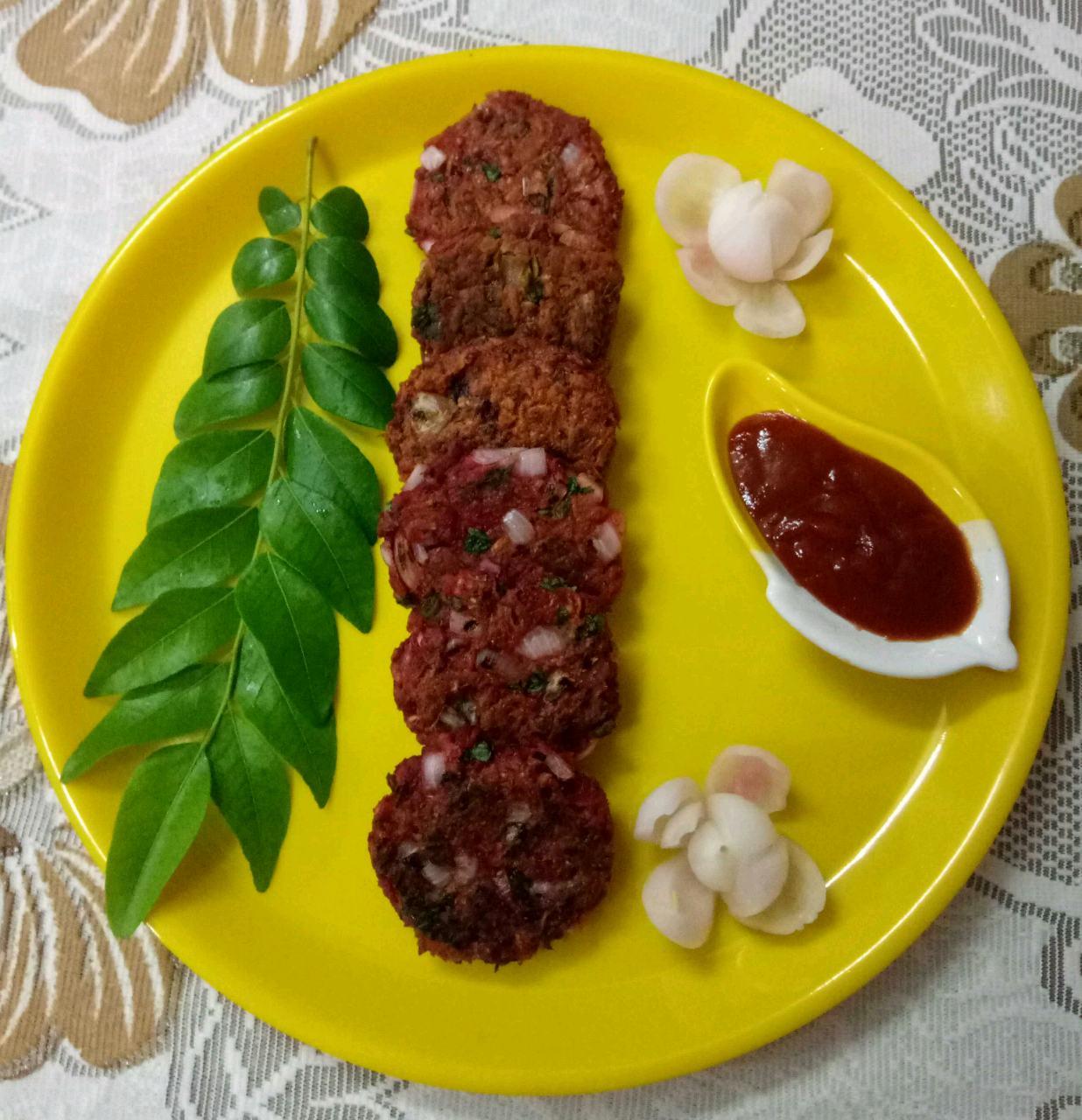 Carrots & Beetroot Oats Kebab