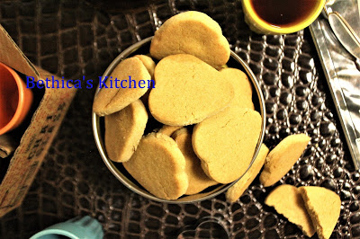 Eggless Whole Wheat (Atta) Biscuits