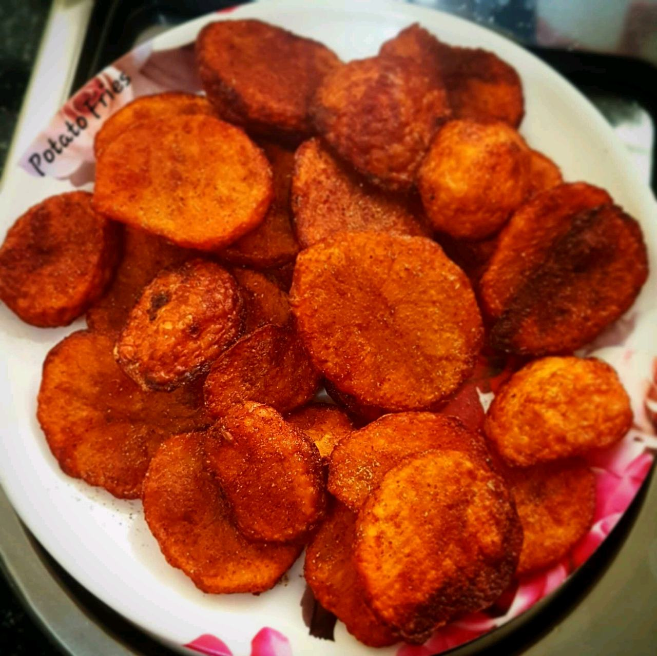 Potato Fries Or Spicy Chips