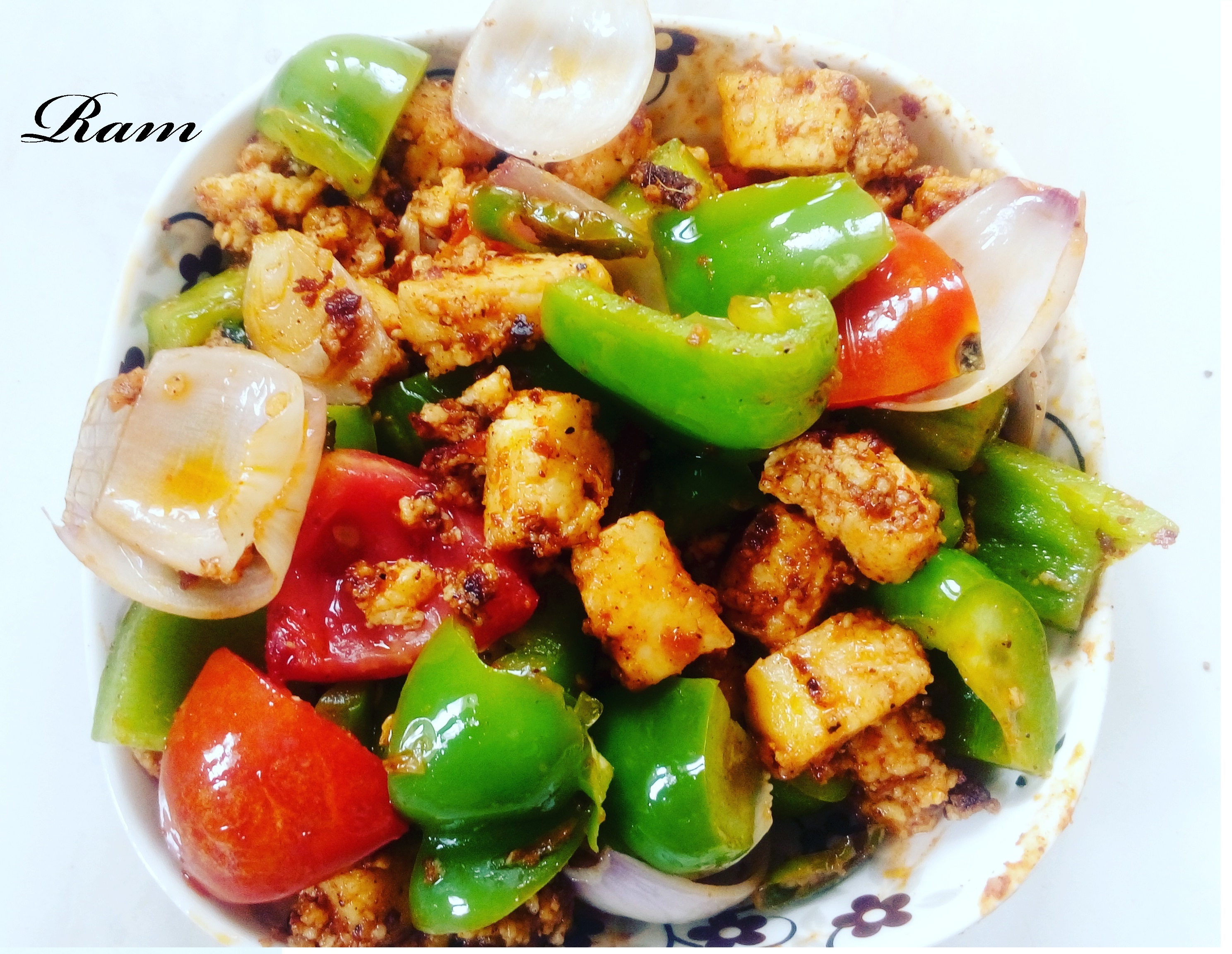 Pan Fried Paneer With Veggies