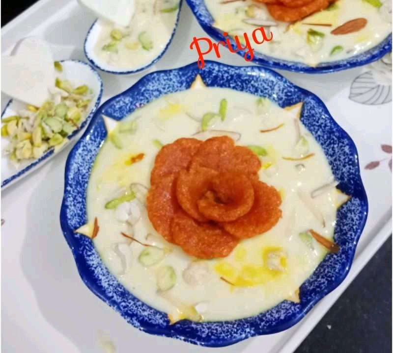Carrot Rose in paneer pudding
