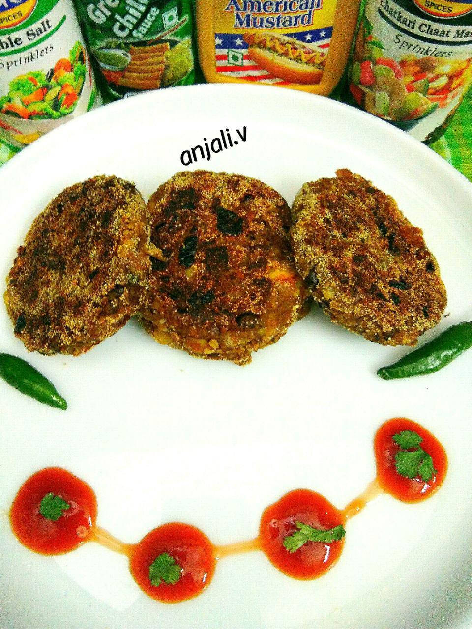 Kale chane ke Shammi  kebab