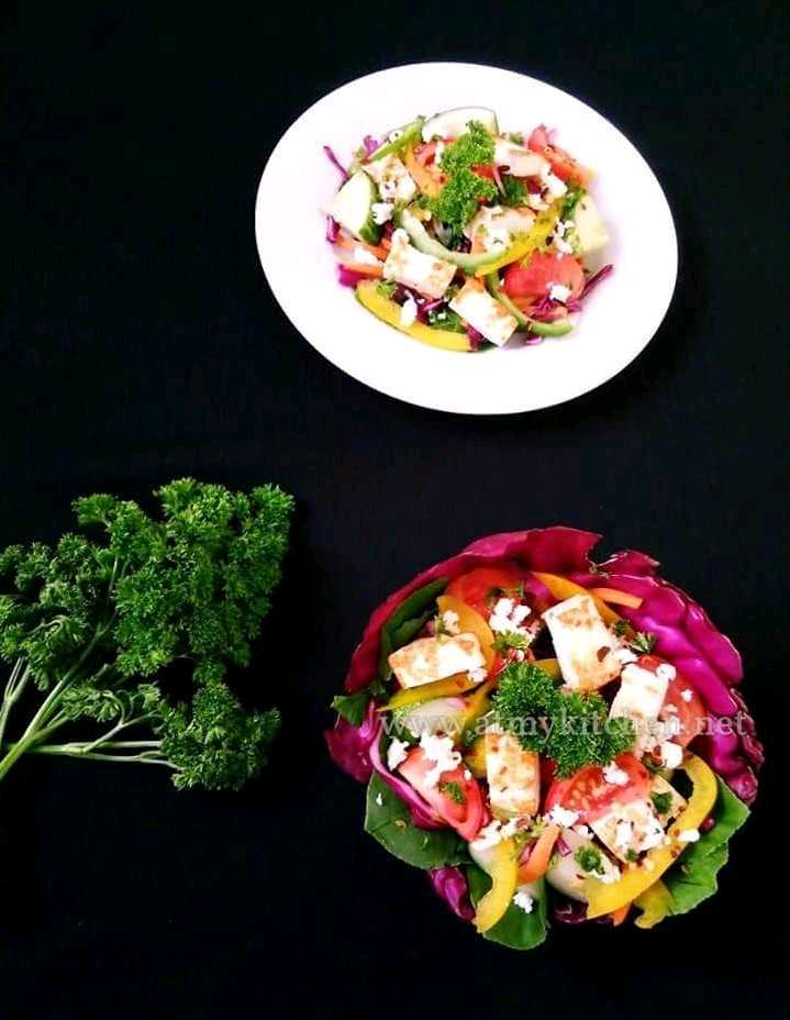 Cottage Cheese Salad / Paneer Salad