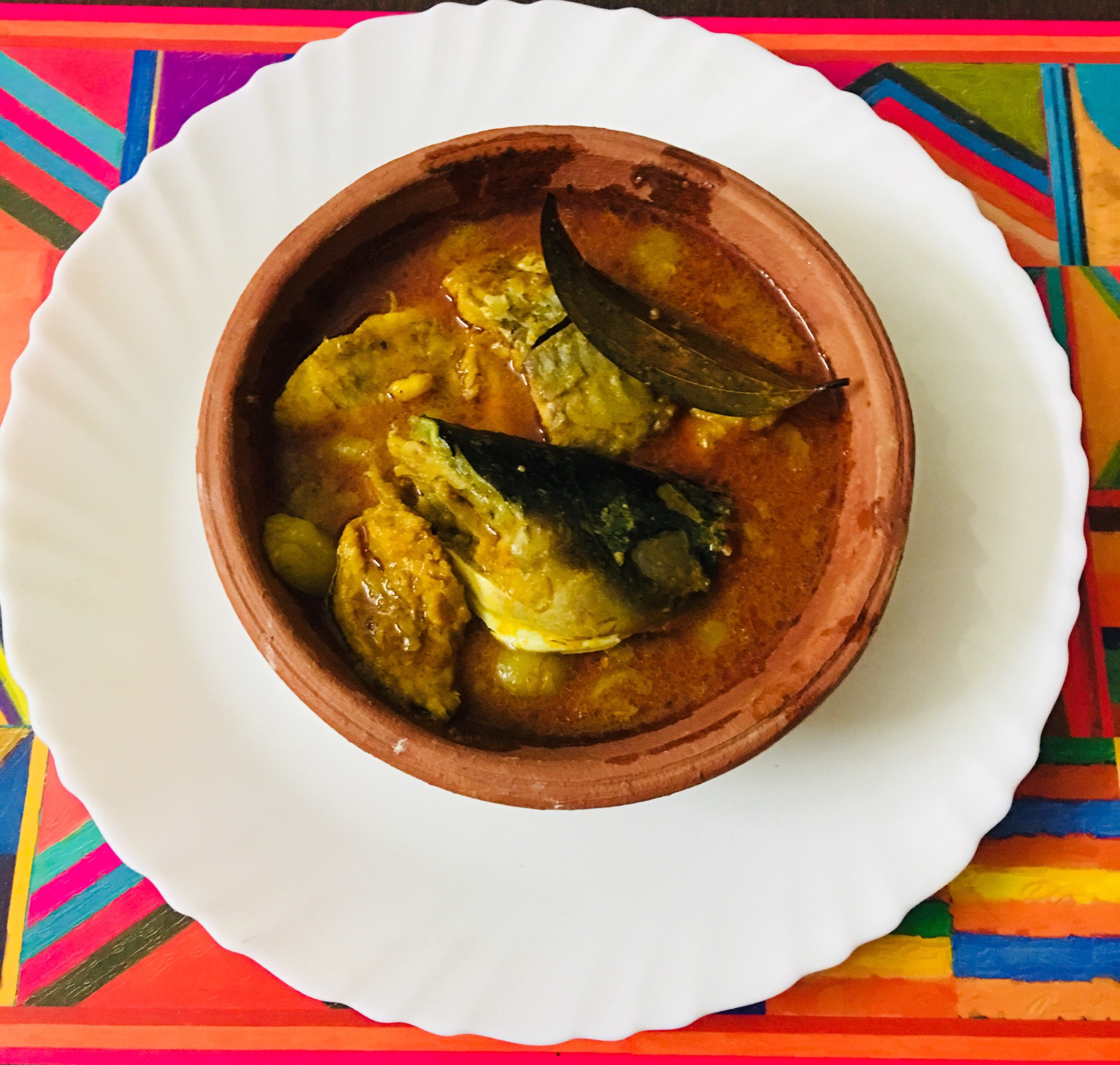 Fish curry .