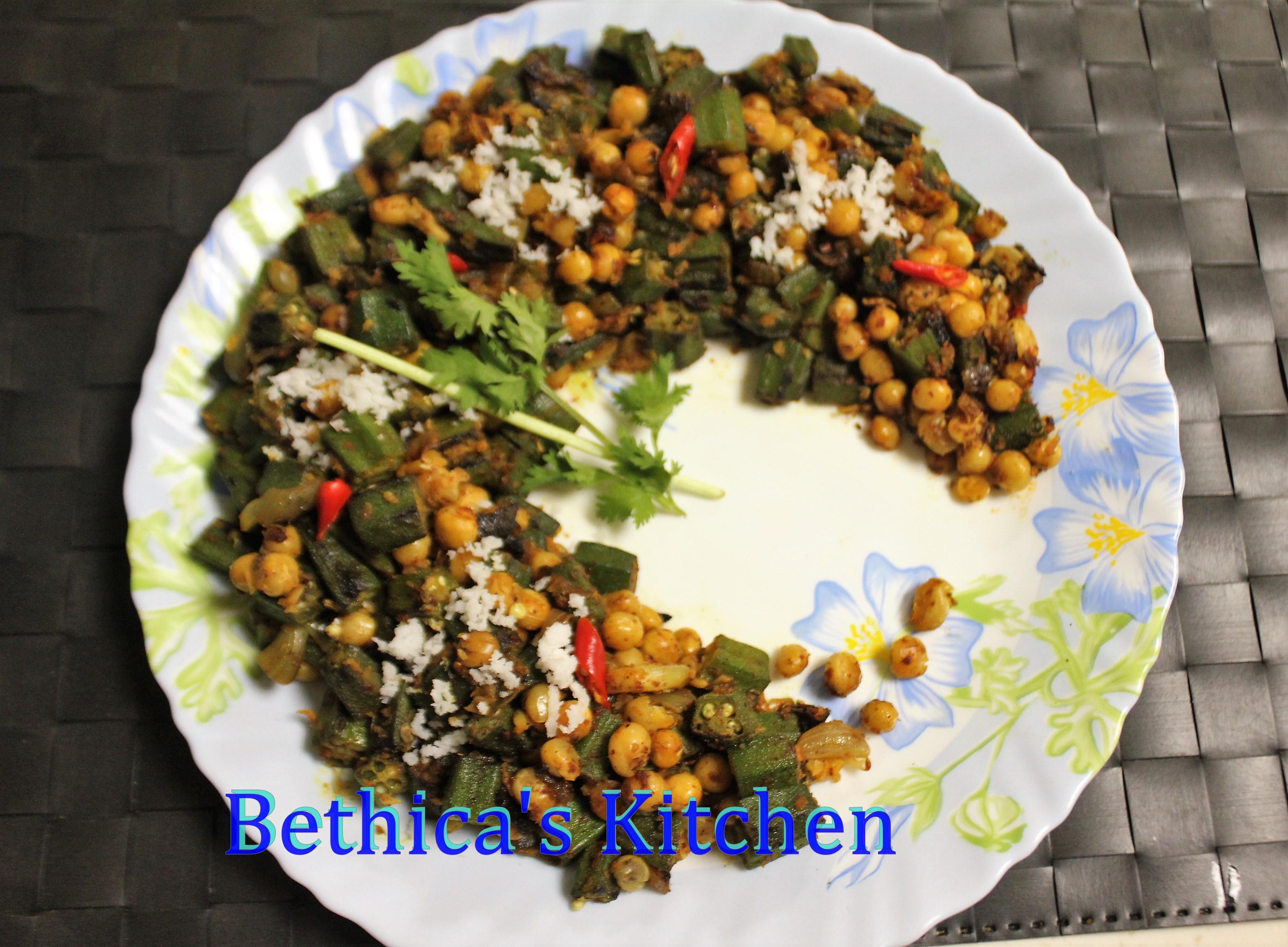 Bhindi Matar Stir Fry