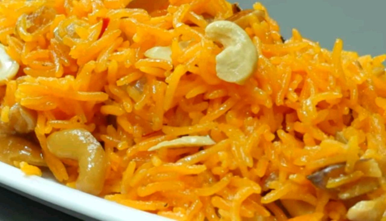 Zarda Rice With Khoya