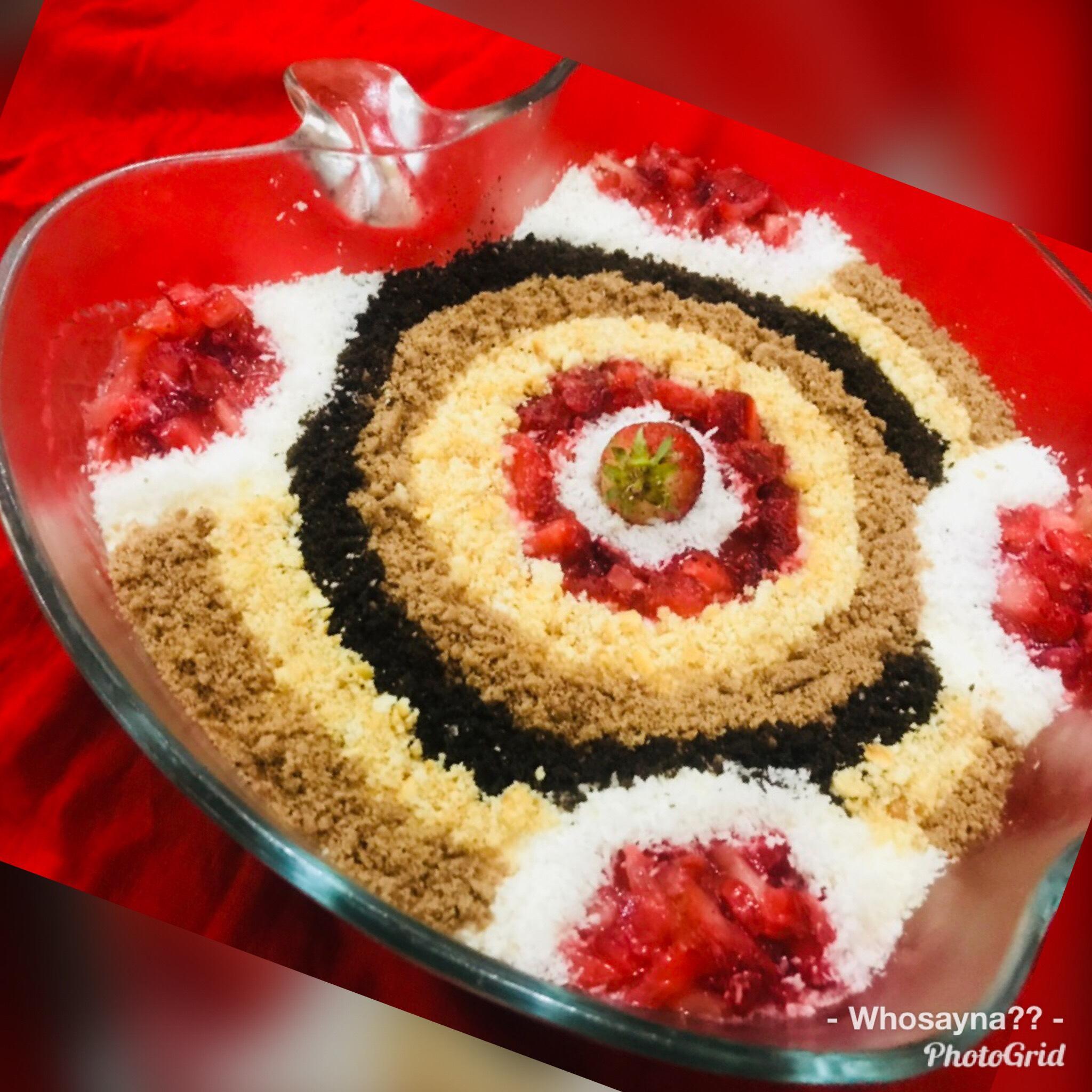 Whosayna's Mocha Choc Mousse Carpet Pudding