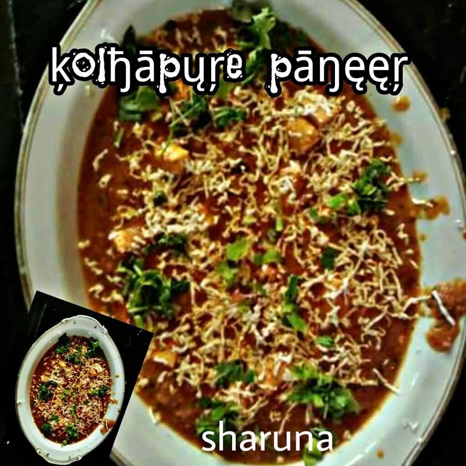 Butter malai kolhapuri paneer