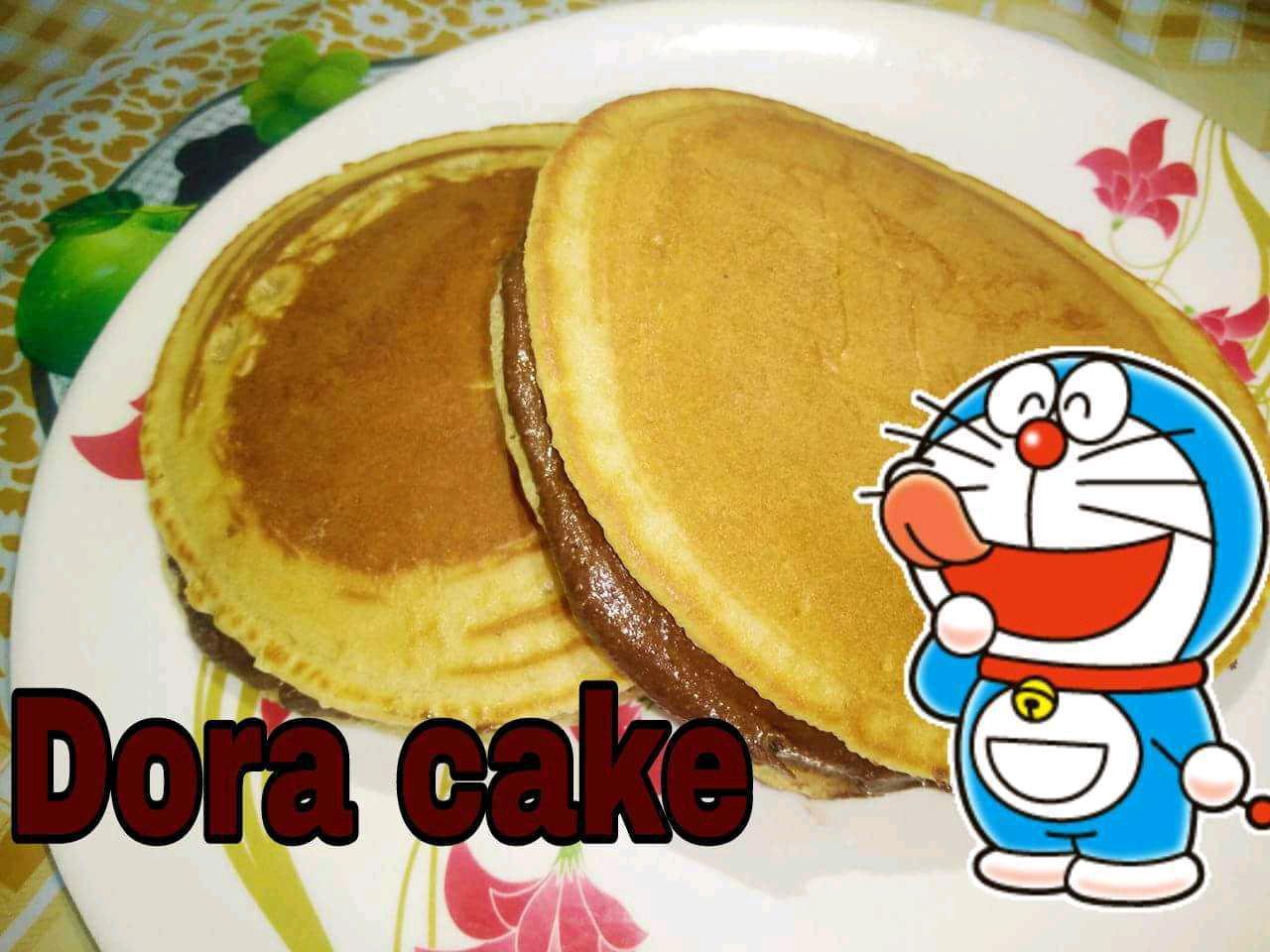 Eggless Dora Cake
