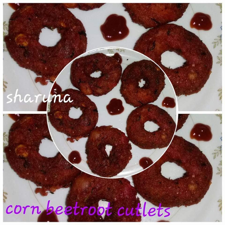 Corn beetroot  cutlets
