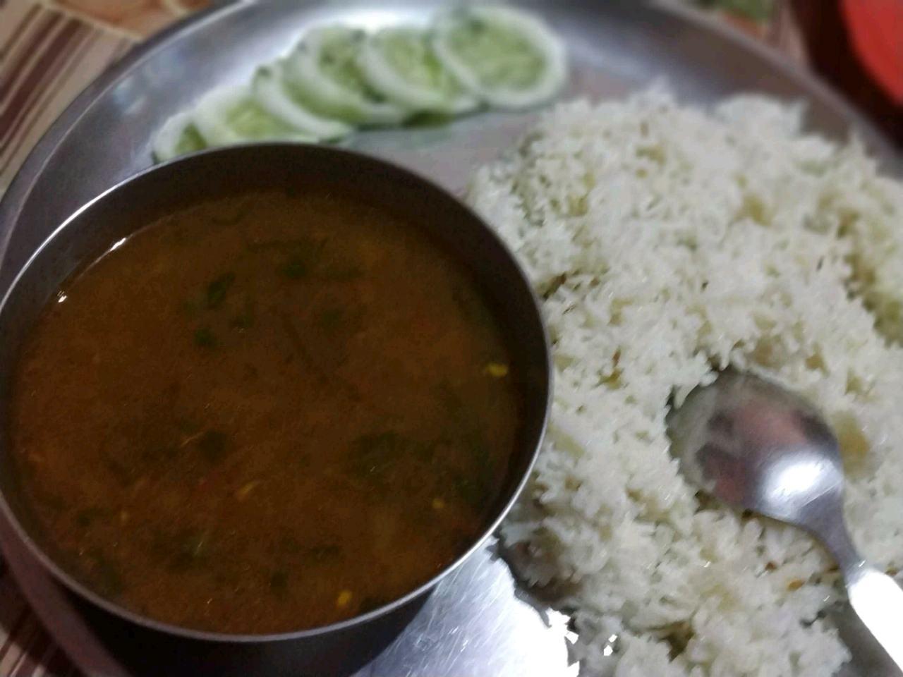 Black Chna Ki Sbji With Jeera Rice