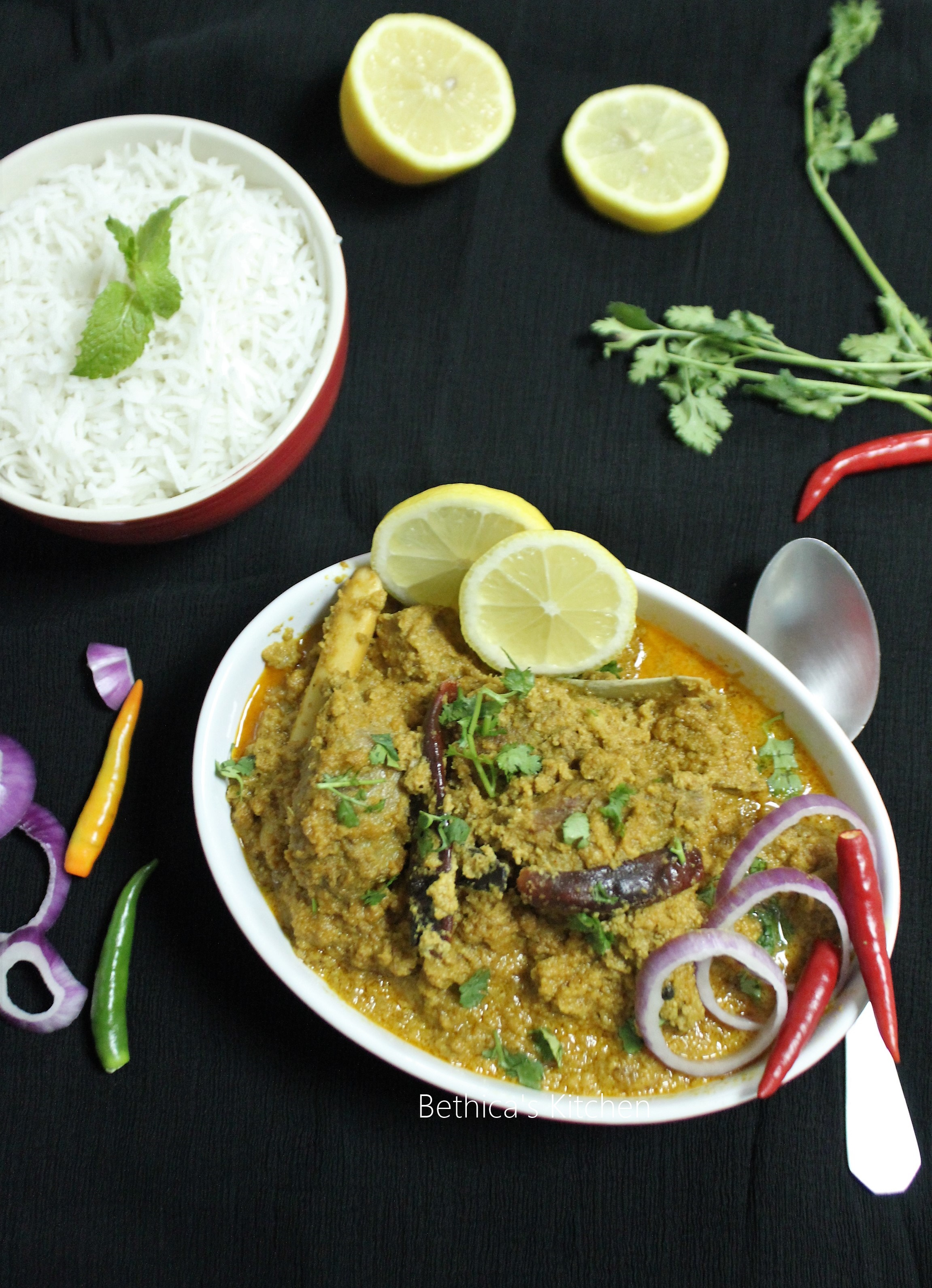 Mutton Posto (Mutton in Poppy Seeds Gravy - Bengali Style)