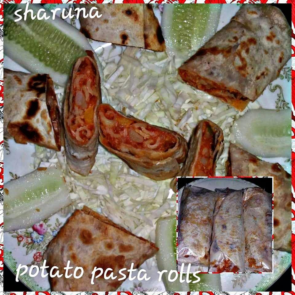Mexican potato pasta rolls