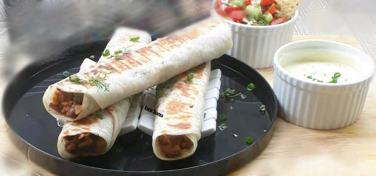 Vegetarian grilled Taquitos