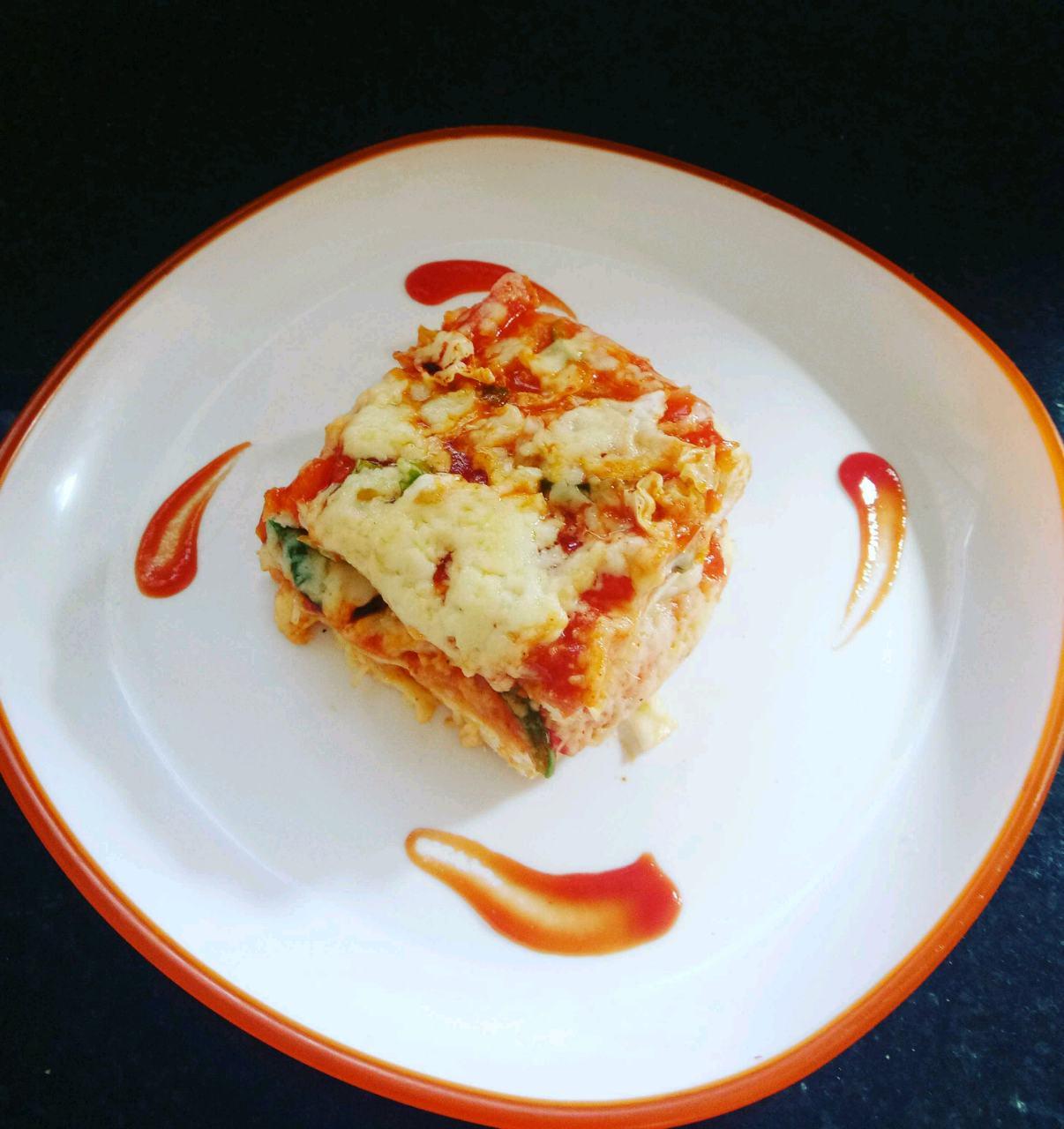 Healthy Spanish Macron Lasagna