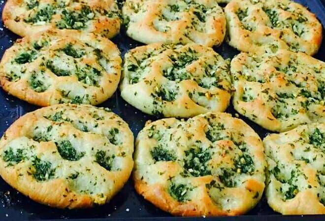Baked Stuffed Spinach Aloo Kulcha