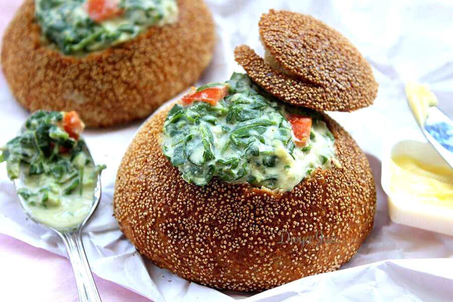 Bowls Of Goodness: Moringa Kootu In Pretzel Bread Bowls