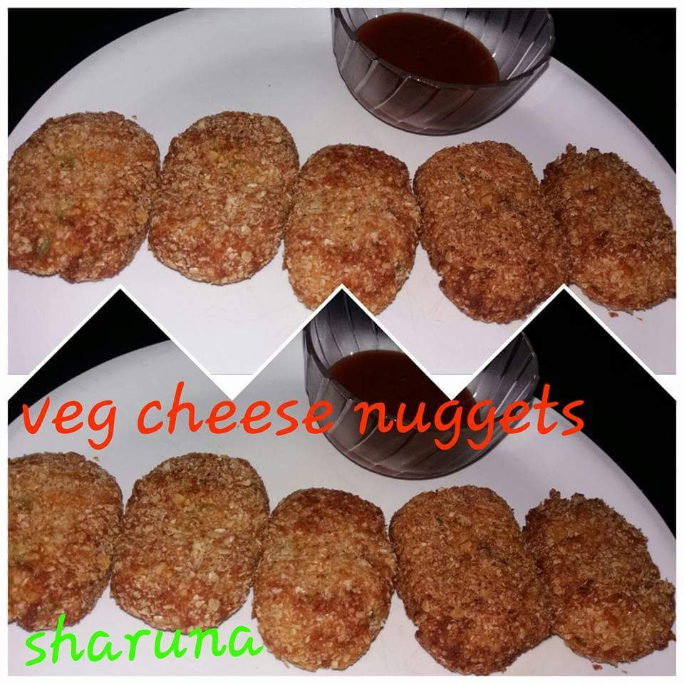 Veg cheese nuggets