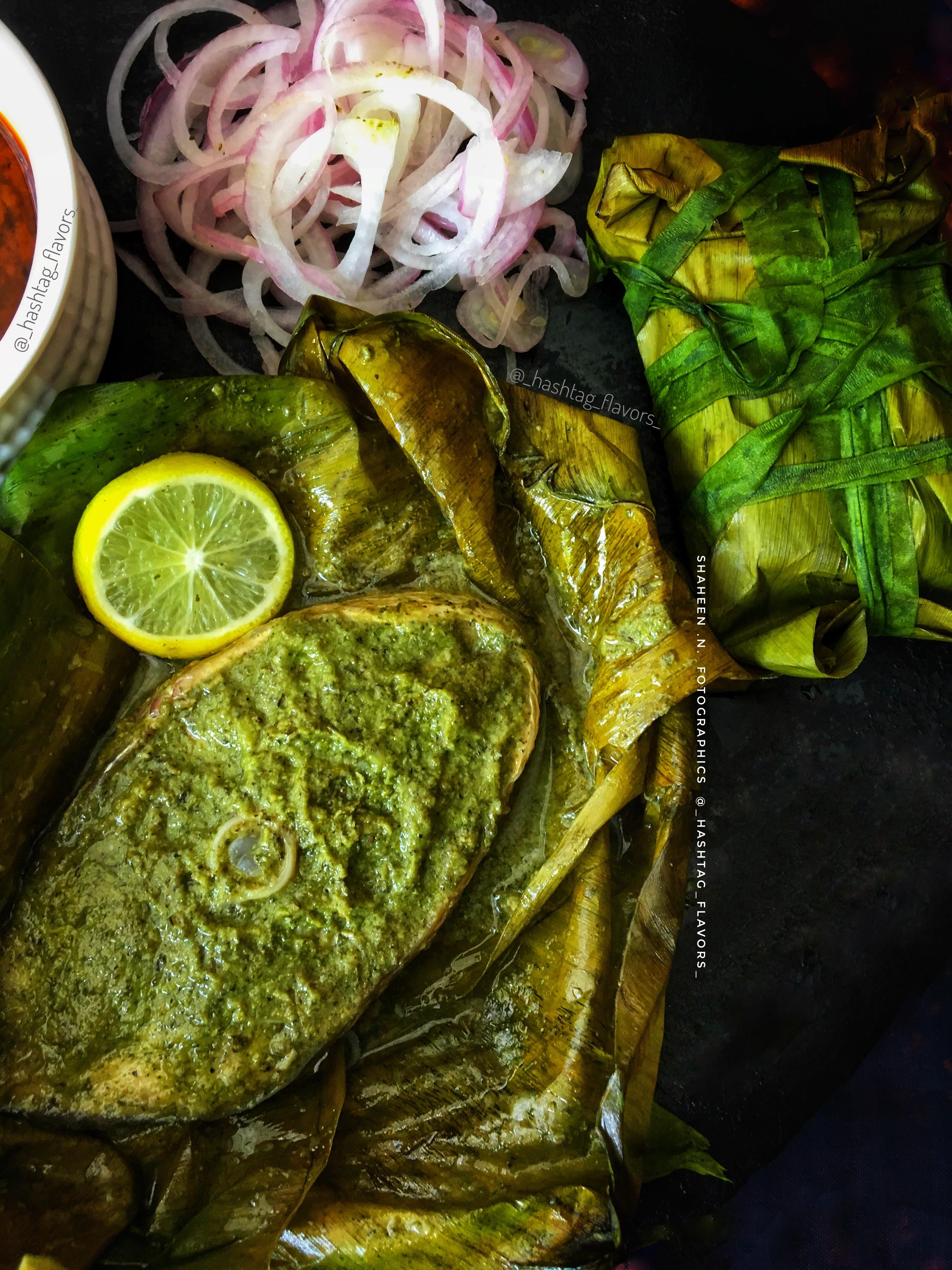 Patrani Macchi (parsi style steamed fish)