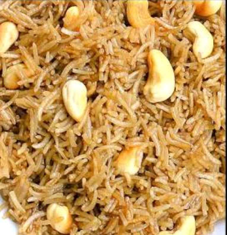 Jeggery Rice (Gur Wale Chawal) Punjabi Dish