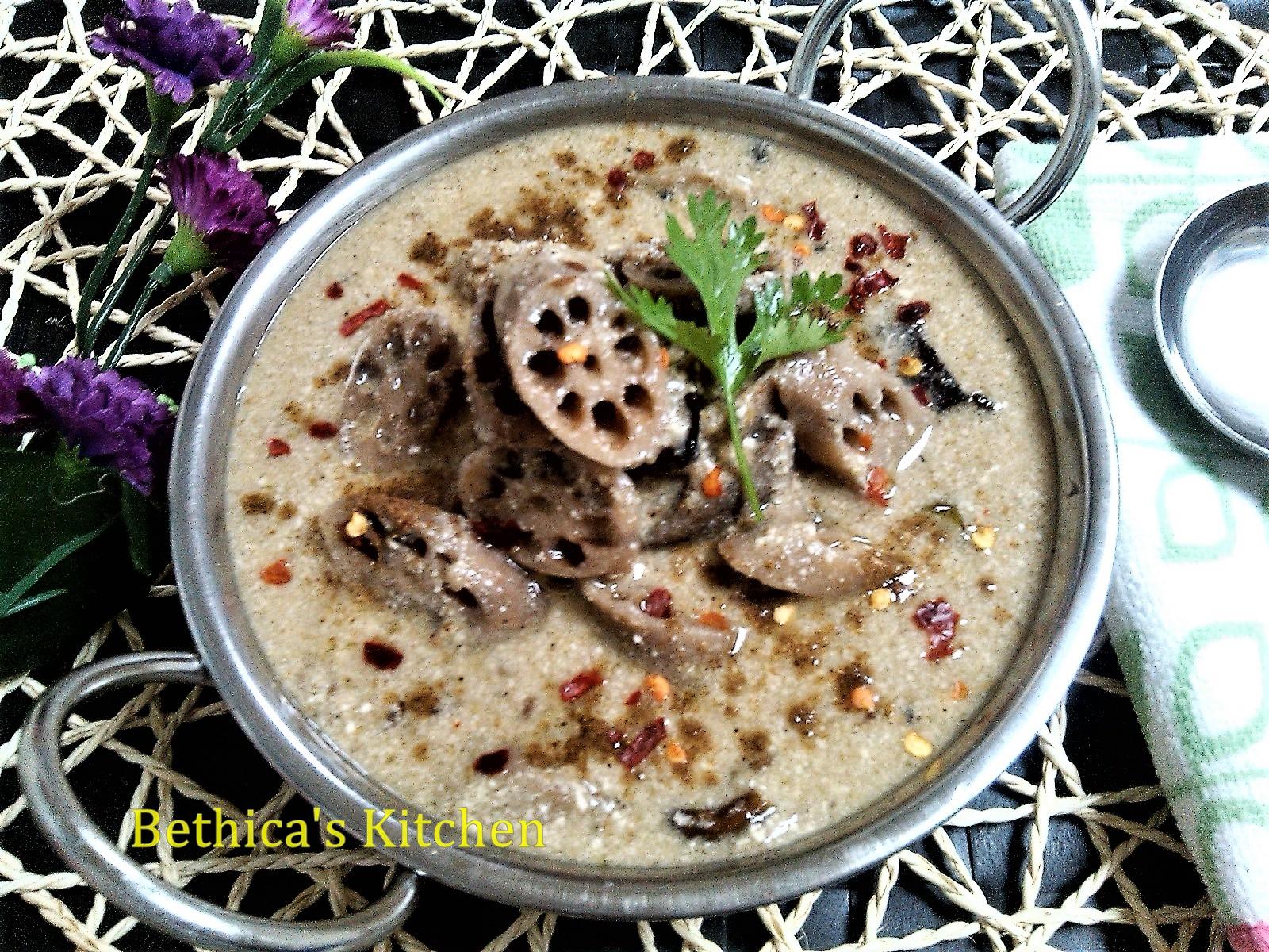 Nadru Yakhni (Lotus Stem Curry - Kashmiri Cuisine)