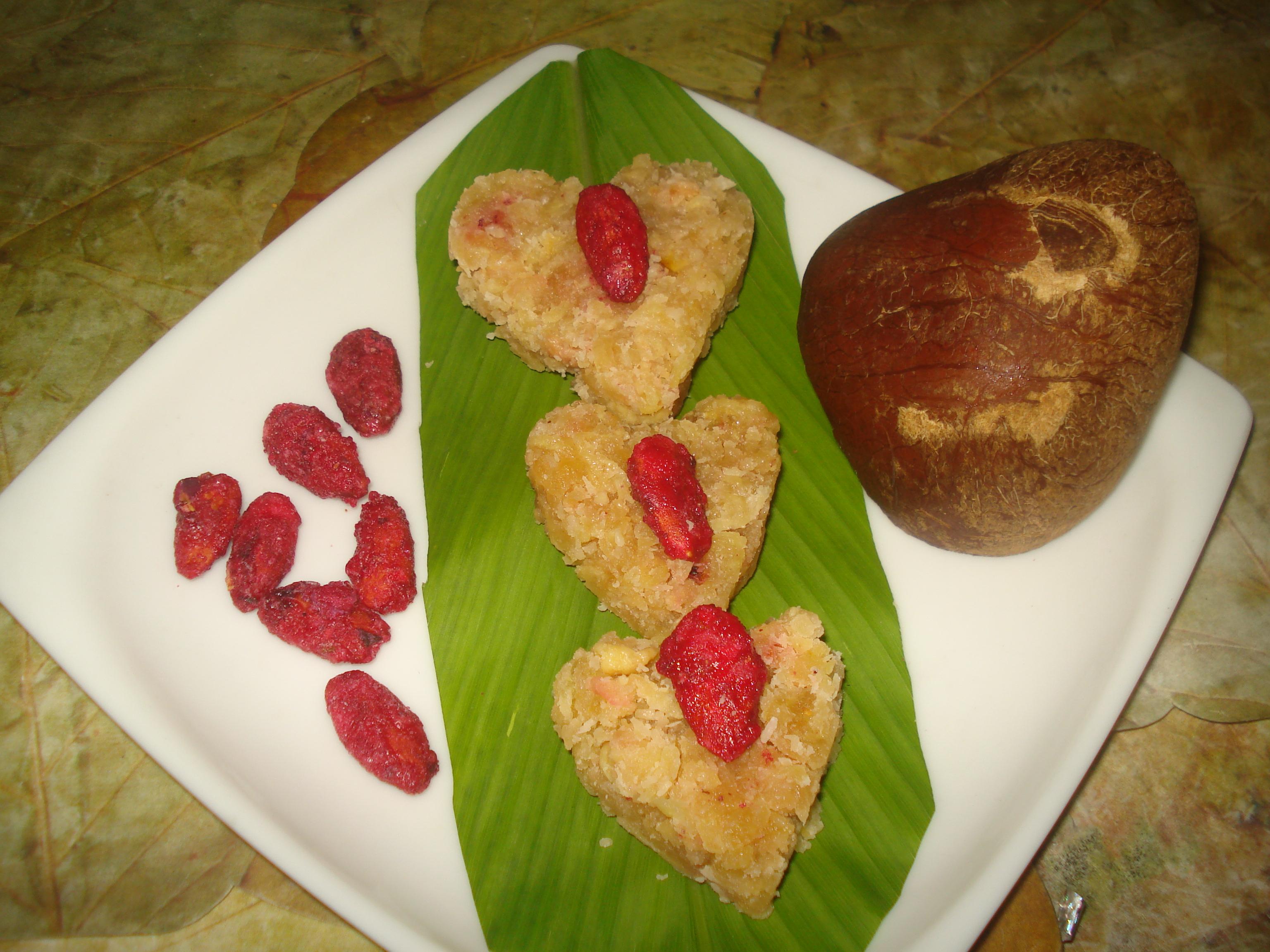 Seb-nariyal  –sweet heart panjeeri (tradional panjeeri  )
