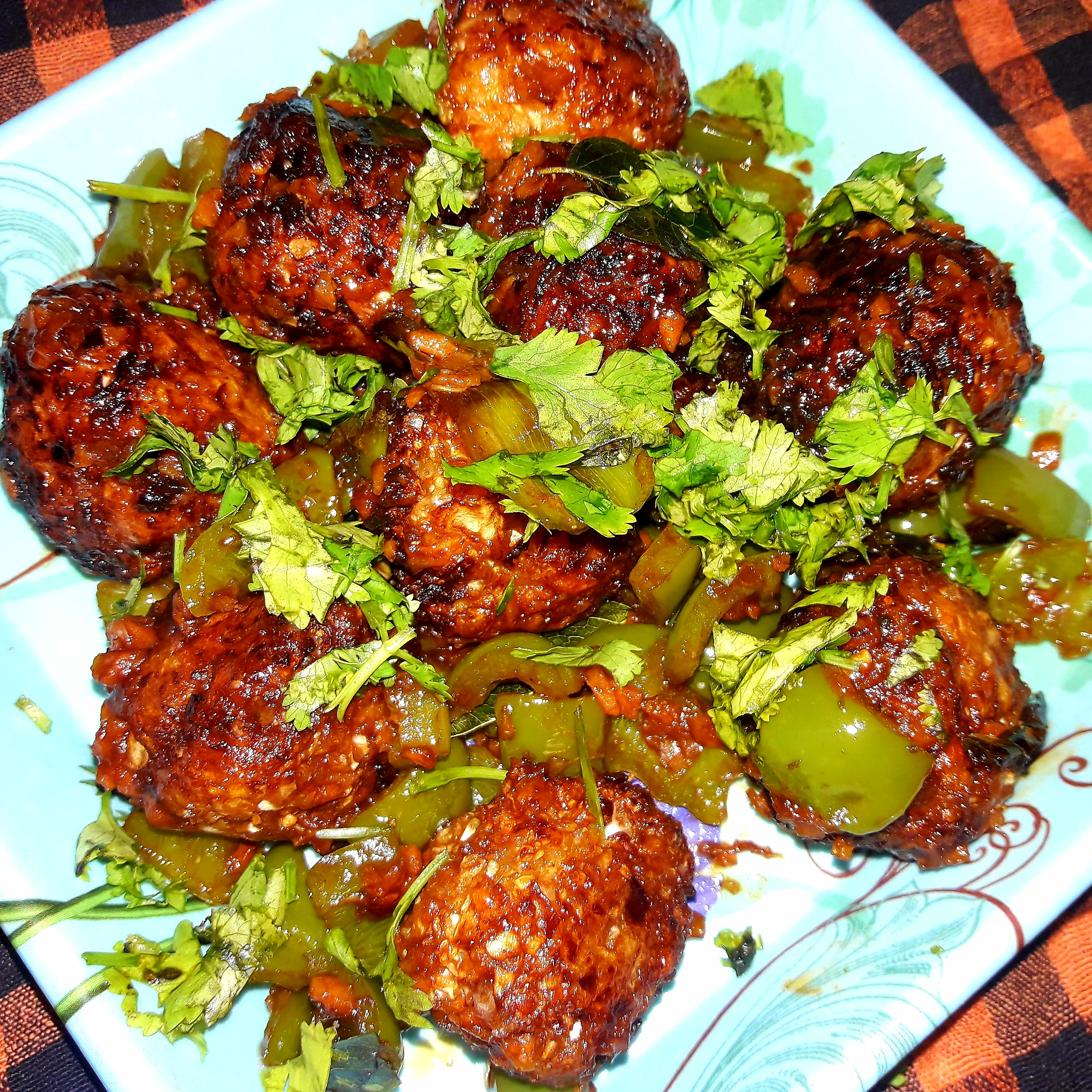 DRY  CABBAGE   MANCHURIAN   (It is a chinese dish with a Indian twist. )