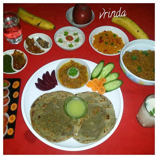 #Traditional Recipes - Kathiawadi Platter