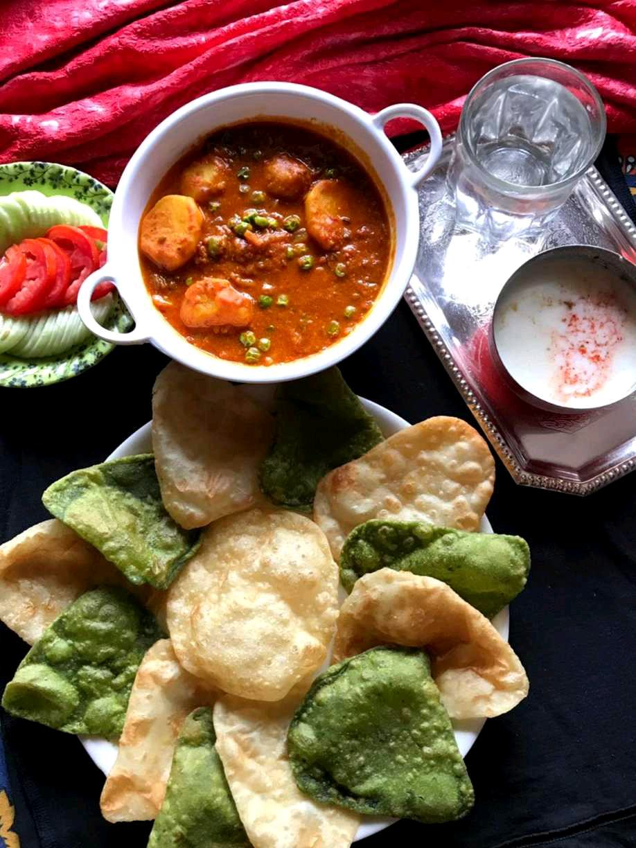 Luchi Dum Aloo...A Traditional Sunday Special Bengali Breakfast