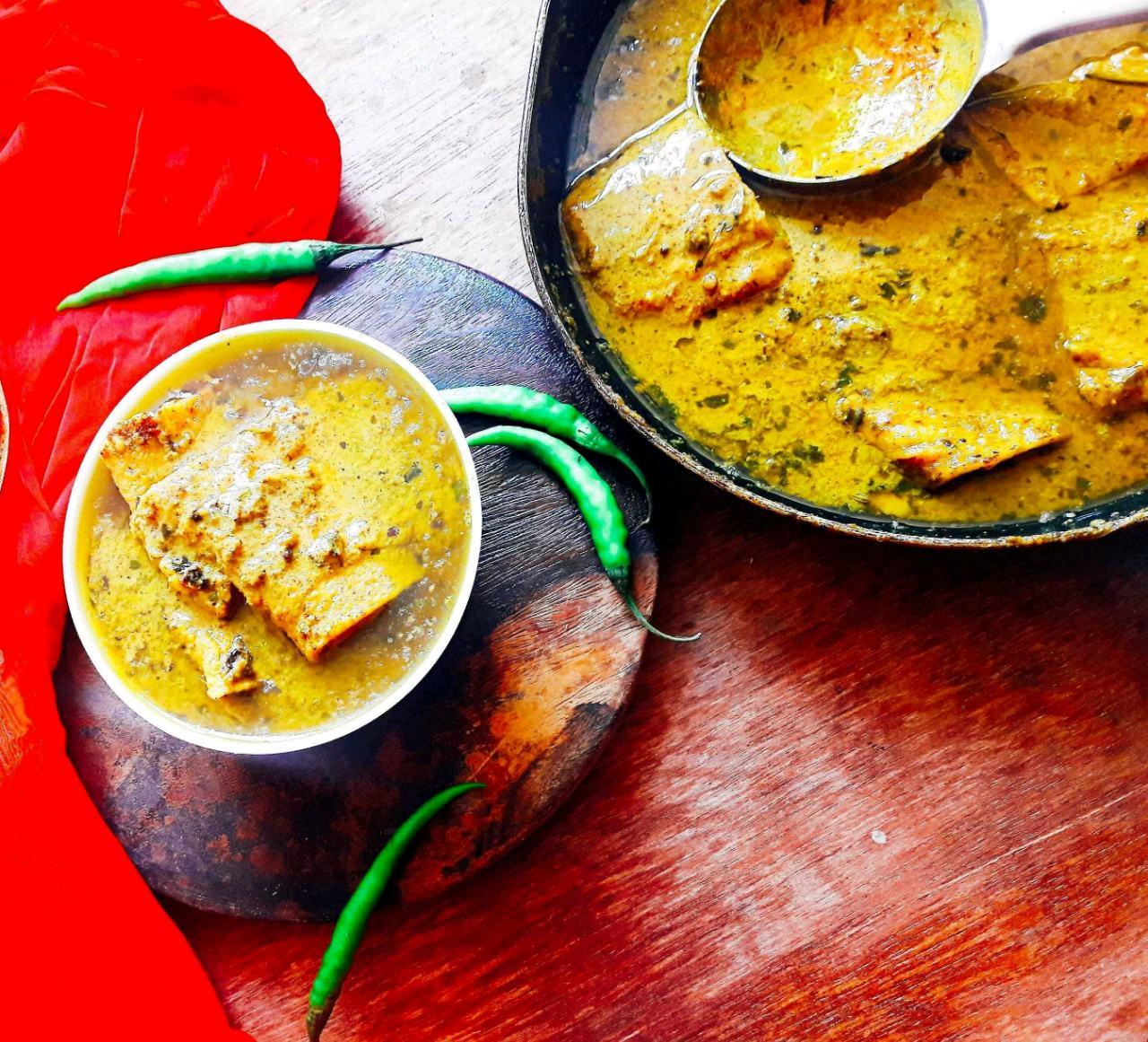 Veg Fish Curry In Mustard Sauce