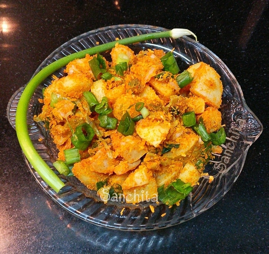 Spring Onion Poriyal/Spring Onion Stir Fry