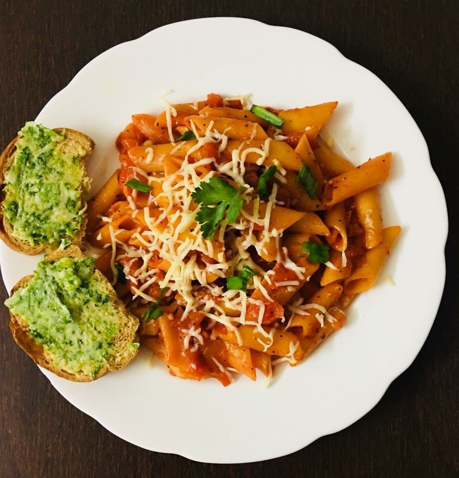 penne arabiata in red sauce