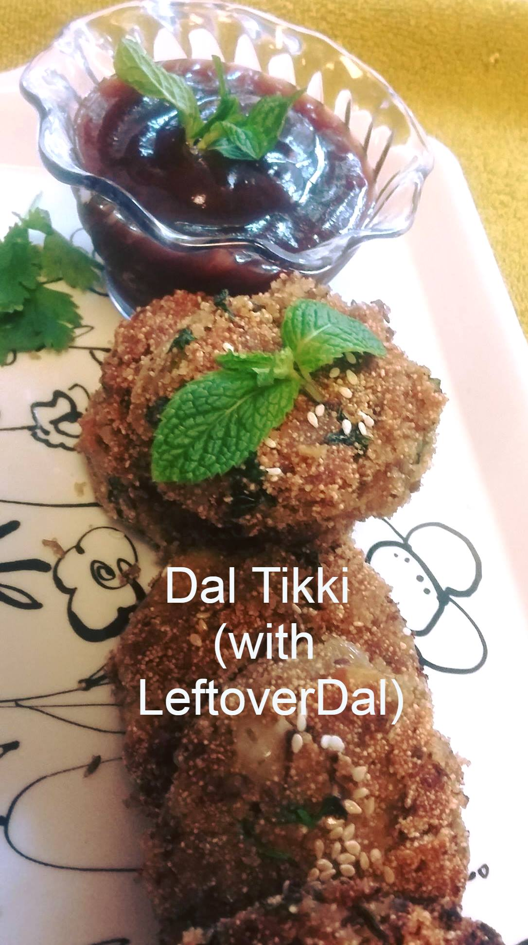 #WFD Dal Tikki with leftover Dal (#Reuse)