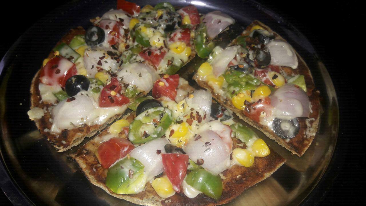 Bhakri pizza 🍕