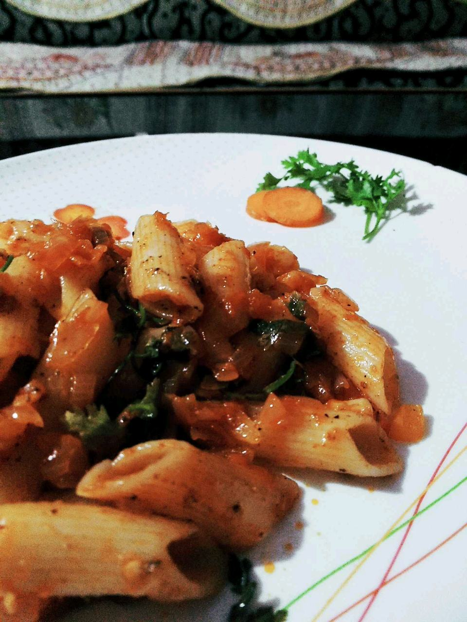 Indian Penne Pasta.