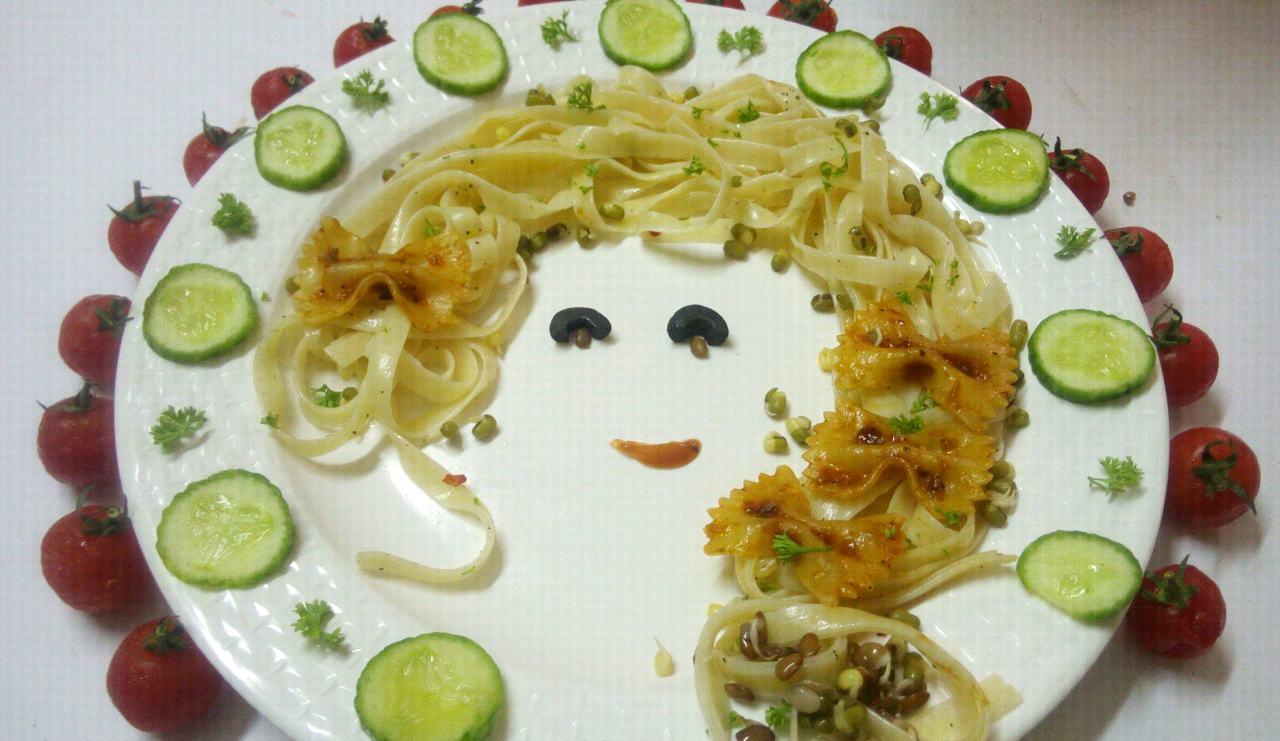 Cute Doll Spegetti Pasta