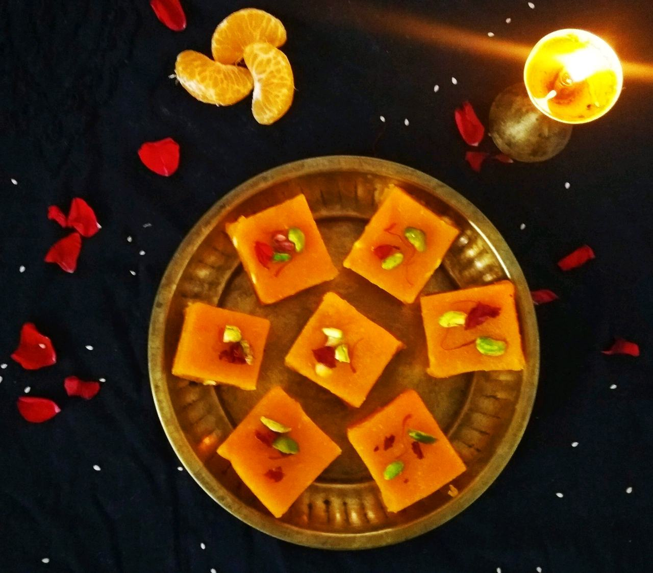 Besan Orange Barfi
