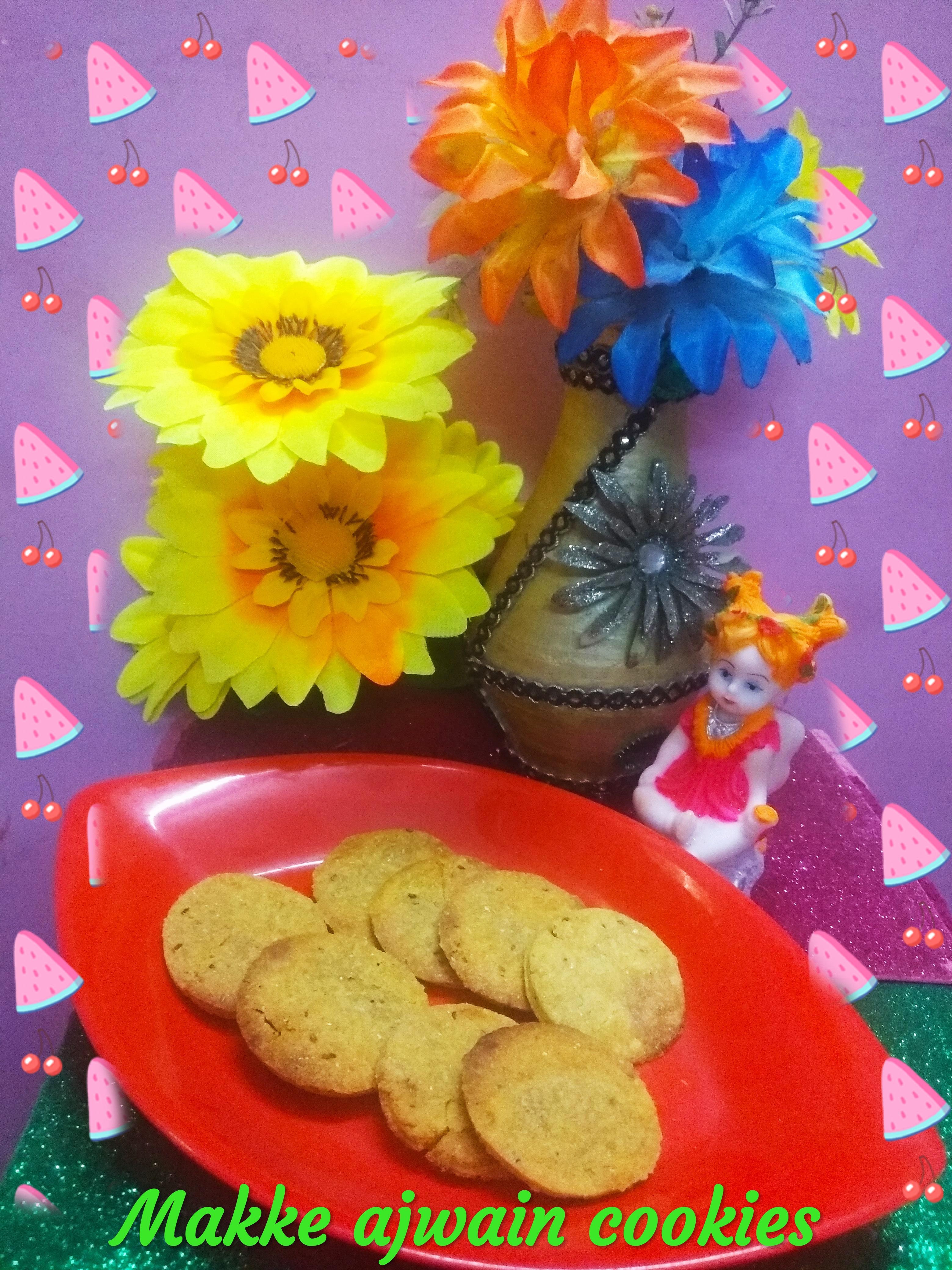 Makke ajwain cookies