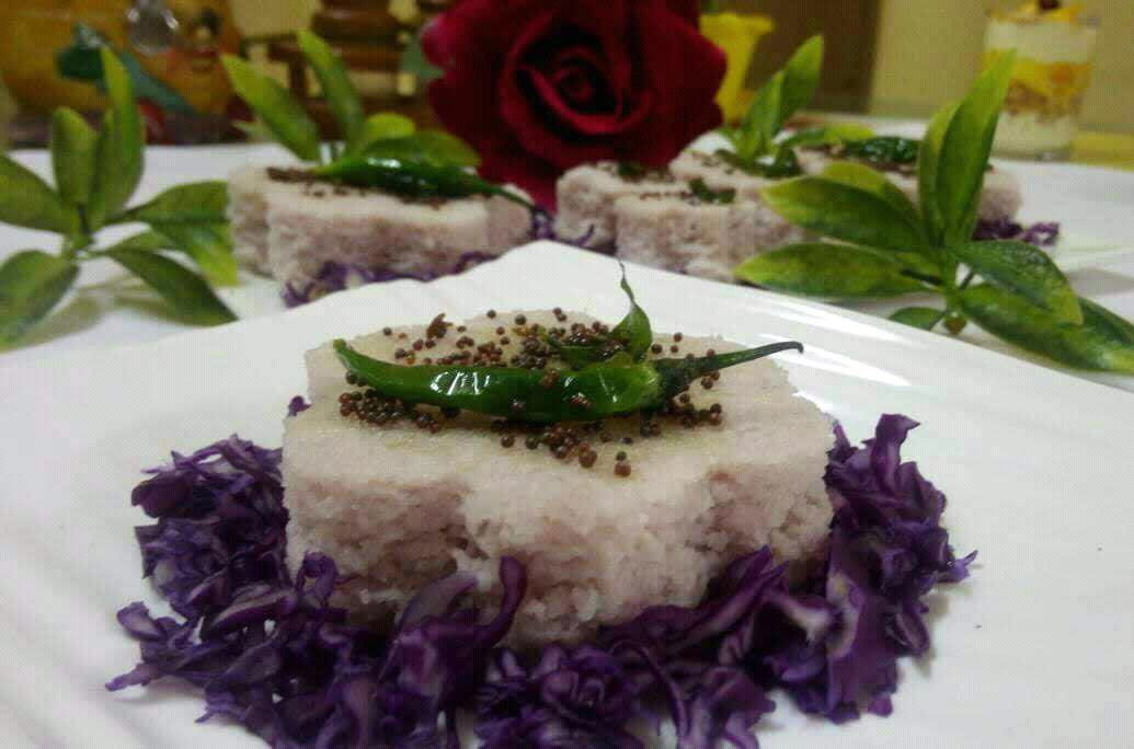 Purple Cabbage Flower Dhokla