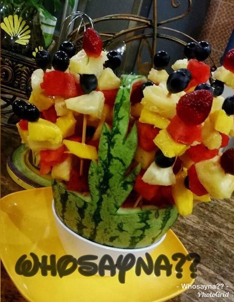 Bouquet of Fruit Cocktail Salad: