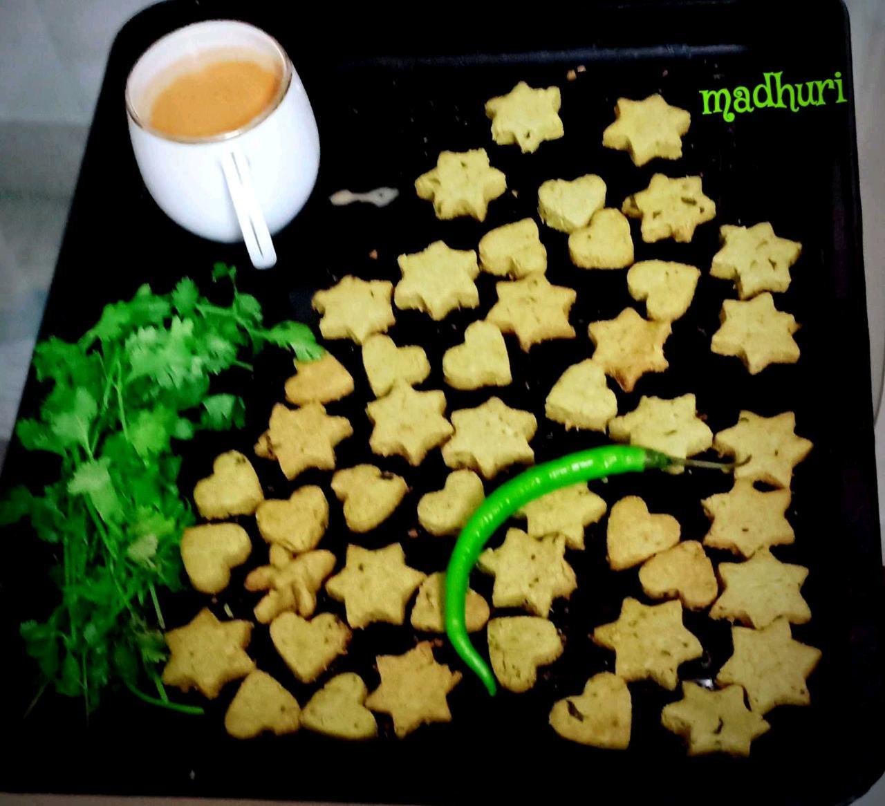 Masala Coriander Cheese Cookies